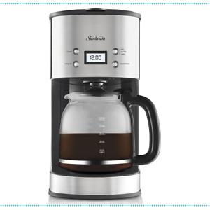 Coffee Machine Drip Filter Maker Espresso Electronic Sunbeam Automatic Brewing