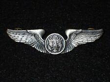 United States Army Aircrew Badge Crew Member Wing 3 Inch Clutch Hollow Back VG+