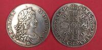 Great Britain - Crown 1662, Charles II of England - silvered, 1OO% Feedback