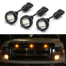 3pcs Ford SVT Raptor Style LED Amber Grille Lighting Kit Universal Fit Truck SUV