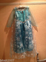 Disney Frozen Princess Elsa Fancy Dress Costume All Ages NEW **LOOK**
