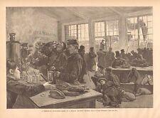 Third Class Refreshment Room, Russian Railway Station, 1887 Antique Art Print