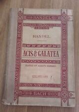 Acis &  Galatea by Handel  Novello Original Octavo Edition