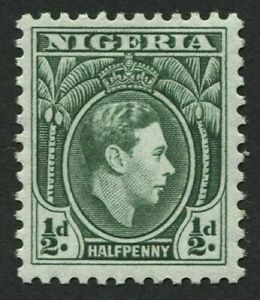 NIGERIA 1938-51 SG49. ½d. KGVI GREEN DEFINITIVE -  MNH