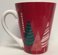 STARBUCKS CHRISTMAS TREE WINTER HOLLIDAY COFFEE CUP 13 OZ SIZE RED & GREEN MCM