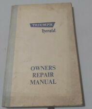 TRIUMPH Herald 1960 2nd Ed. #508912 Original Owners Car Handbook