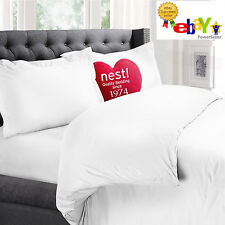 Nestl Bedding 3-Piece Microfiber QUEEN Duvet & Pillow Sham (2) Cover Set - WHITE