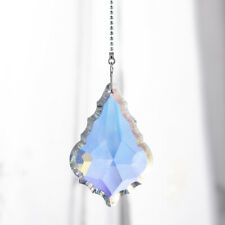 Handmade Window Hanging Rainbow Suncatcher Crystal Prisms with 3 Chains Decor