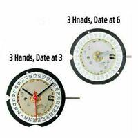 Neu Schweizer Ronda 585 3-Pin Uhrwerke Quarzwerk Datum bei 3'/6' Uhren Zubehör