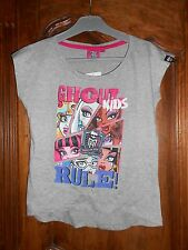 tee-shirt MONSTER HIGH gris  taille 12 ans - neuf