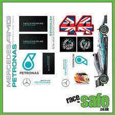Mercedes F1 Sticker Sheet / A4 / LEWIS HAMILTON 2017 F1 CHAMPION / Car Decals