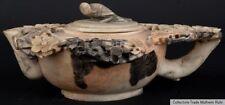 China 19./20. Jh. Teekanne - A Chinese Soapstone Shallow Teapot - Cinese Chinois