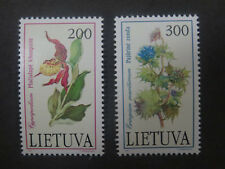 Lithuania 1992 Plants in the Red Book Set of 2 - Mint Unhinged