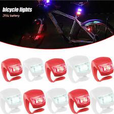 Fahrrad Rücklicht Lampe Fahrradlicht LED Silikon Vorne Hinten Beleuchtung ra