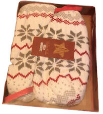 Microwavable knitted Welly Warmers. Brand New Boxed