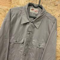 Vintage Dickies Grey Long Sleeved Canvas Workwear Shirt   Men's Size XL