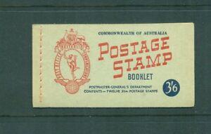 Australia 1953 3s 6d QEII with Wax interleaves  Booklet SG SB31a