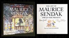 MAURICE SENDAK SIGNED ART BOOK - 1st Tony Kushner, Where the Wild Things Are!