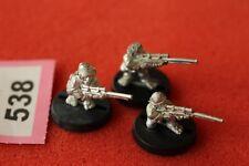 Juegos taller Warhammer 40k Astra Militarum Ratlings francotiradores escuadrón x3 metal fuera de imprenta
