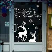 Merry Christmas Window Wall Sticker Decals Snowflake Santa Claus Home Decor HS