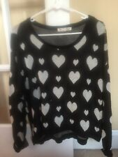 Love By Design Hearts Sweater In Size Large