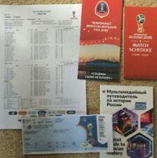 2018 World Cup Semi-Final Croatia v England 5 items includRare colour team sheet