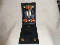Vintage Texaco Golfer Greens Kit Leather Holder 2 Ball Makers Divot Repair Tool
