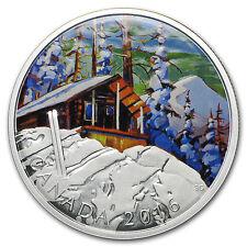 2016 Canada 1 oz Silver $20 Canadian Landscape Ski Chalet - SKU#95298