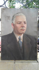 Oil painting Portrait of Voroshilov Ukraine USSR 1960s.