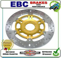 NEW EBC FRONT BRAKE DISC GOLD ROTOR MD1003X 296mm HONDA RVF400 NC35 RVF 400 95