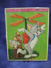 """Whitman 1965 Tom And Jerry Frame-Tray Puzzle 14.5"""" x 11.5"""""""