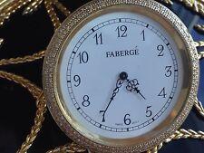 Amazing!!!  Faberge Egg Diamonds Clock Ultra Rare !!! Must See!!!