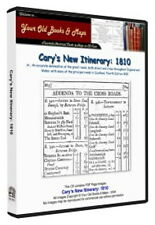 Carys New Itinerary 1810 Delineation of the great roads CDROM