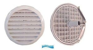 Bocchetta per ventilazione tonda in plastica Edilplast areazione griglia aria