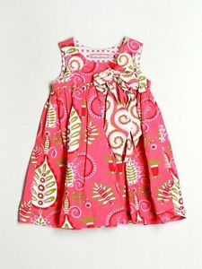 Baby Girl Girl Jelly The Pug Pink Puffy Spring Summer Dress Size 12 Months