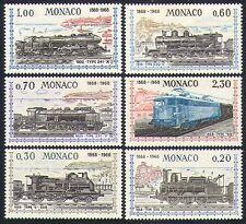 Monaco 1968 Transport/Railways/Steam Engines/Trains/Rail 6v set (n32629)