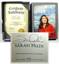 Sarah Palin GOING ROGUE Signed First Edition  Fine w/COA Limited in Leather Box