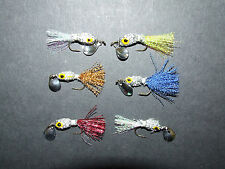 6 x Silver Bladed Minnow Fly Lures Trout Salmon Bass Pike Sea fishing