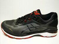 ASICS Men's GT-2000 6 Running Shoes Black/Red Size 9.5 Medium T805N