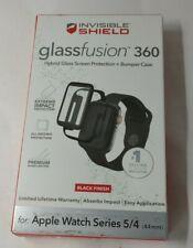 Zagg InvisibleShield GlassFusion 360 Black 44mm Apple Watch Series 4 5 6 Screen