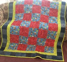 Twin Size Cowboy Quilt Made From 100% Cotton Flannel