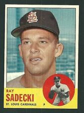 Ray Sadecki St. Louis Cardinals 1963 Topps Card #486