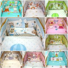 5 or 3 pc LUXURY COT /COT BED BABY BEDDING SET bumper quilt pillow 60x120 70x140