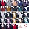 Mens Paisley Floral Waistcoat Vest Necktie Tie Ring Bowtie Hanky Cufflinks Set