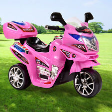3 Wheel 6V Battery Powered  Kids Motorcycle Ride On Electric Toy Bicycle Pink