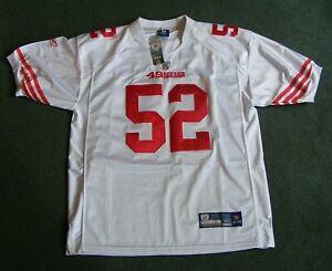 NEW Vintage #52 PATRICK WILLIS San Francisco 49ers Reebok Football Jersey NICE