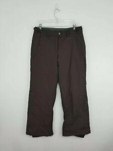 "COLUMBIA YOUTH GIRL'S Ski Snowboarding Pants Brown Size 18/20 (32"" Waist)"