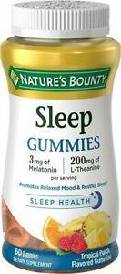 Nature's Bounty SLEEP HEALTH COMPLEX SUGAR free, 60 Gummies  TROPICAL PUNCH