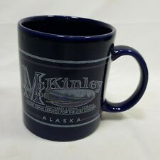 Mckinley Explorer Alaska Luxury Train Service Mug Collectible Dark Blue 4 Inches