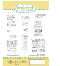 Taylored Expressions Rubber Stamp Set ~ SPOILER ALERT  - Humor, Funny  ~TEMD91